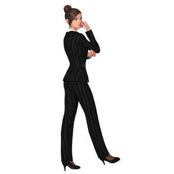 Pants suit woman 02