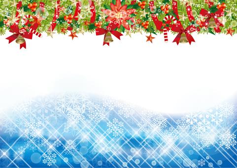 Christmas wreath & snow 33