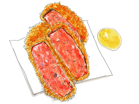 Thick cut ham cutlet