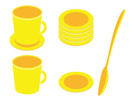 咖啡杯·勺子·杯墊10