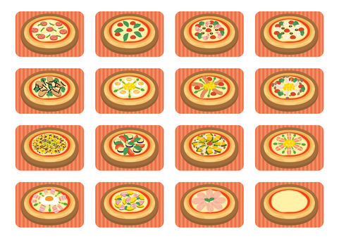 Various pizza sets