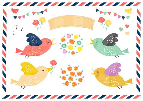 새와 꽃의 소재