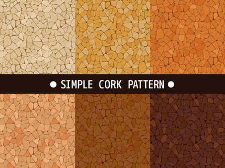 Simple cork pattern material collection