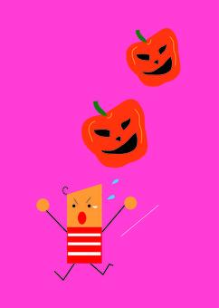 Run away from pumpkin!