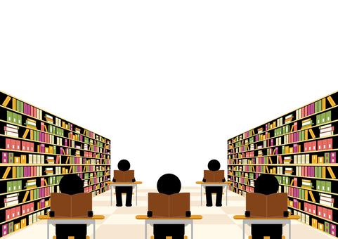 図書室 読書
