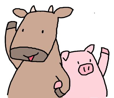 Raising hand beef & amp; pork