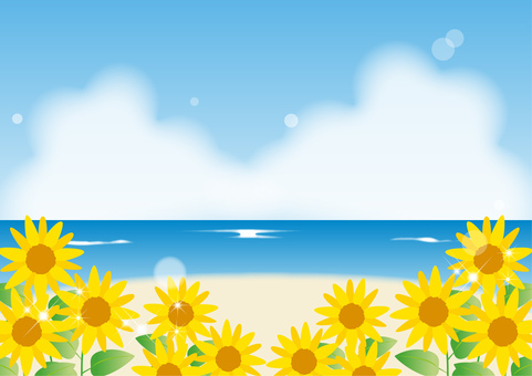 Sunflower _ Sea _ Landscape 2042