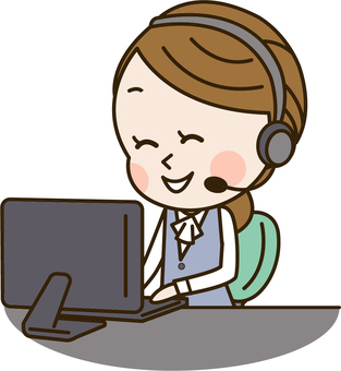 A young woman at a call center (Tereapo 4)