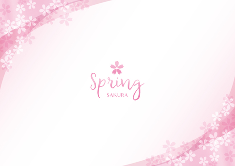 Spring background frame 023 Cherry transparent feeling
