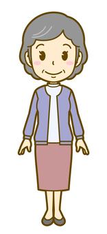 Female (elderly): B_wait 01FS