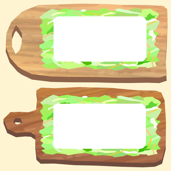 Chopping board and cut vegetable salad frame 2
