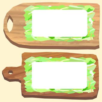 도마와 절단 야채 샐러드 프레임 2