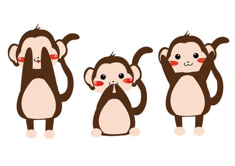 Three apes