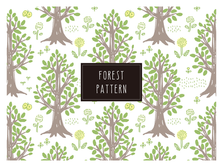 Forest trees pattern