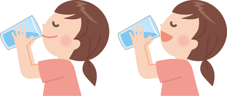 Girl (drinking water)