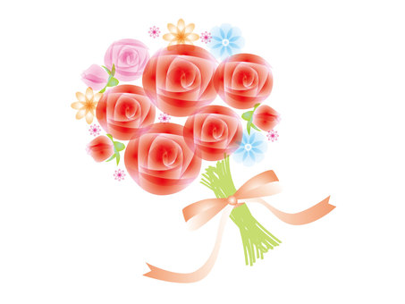 빨간 장미 꽃다발