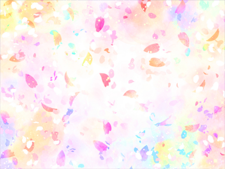Glitter colorful flower snowstorm wallpaper background