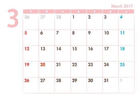 Calendar 2017.03