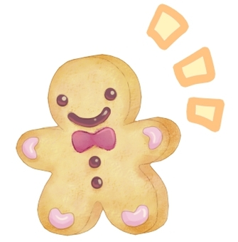 Ginger cookie (with transparent PNG)