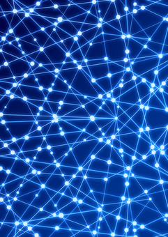 Glowing network image Blue background