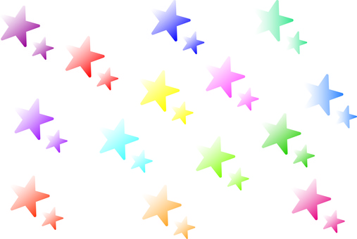 Stars various gradation