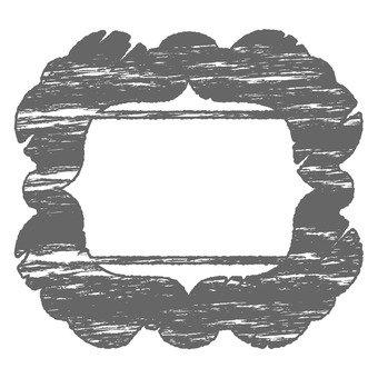 Antique stamp frame 6