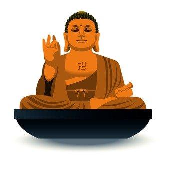 仏像シルエット イラストの無料ダウンロードサイト