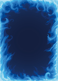 Blue flame frame