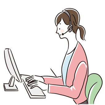 Call center woman illustration 3