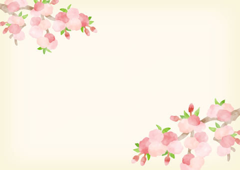 Hand-painted cherry background 1