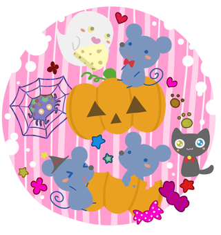 Small Happy Halloween (Pink)