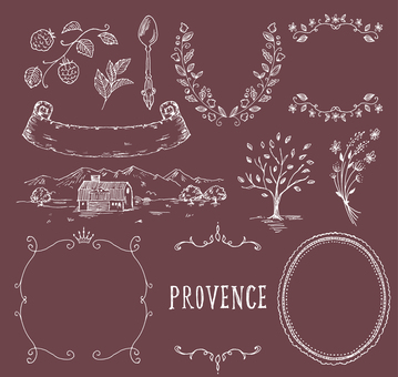 Provence image hand-painted white