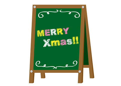 Blackboard signboard Christmas