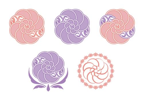 Elegant flower set