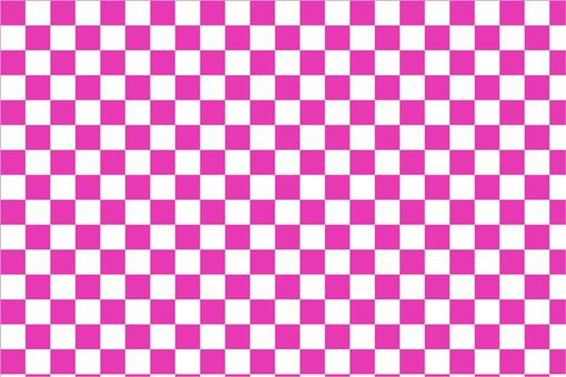 ピンクの市松模様