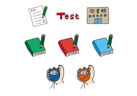 Icon set such as study, test