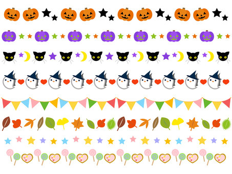 Autumn Halloween Line Decoration