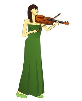 바이올린을 연주하는 여성 2019.4