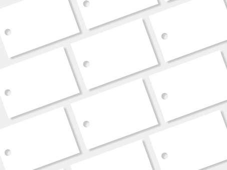 Lined up word card (blank