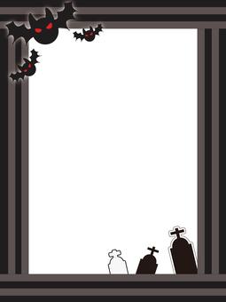 Halloween frame _ black