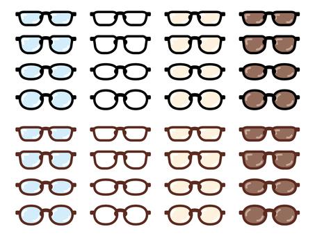 Set_glasses_black and brown