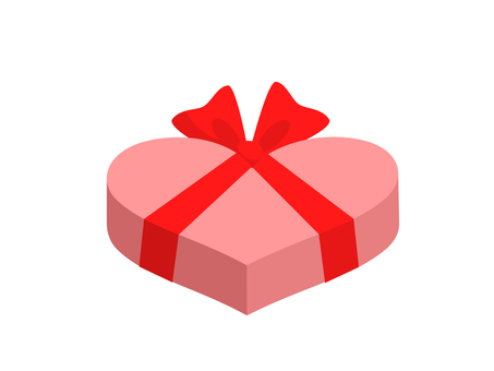 Heart-shaped gift (pink)