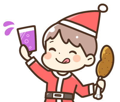 A boy who enjoys a Christmas party