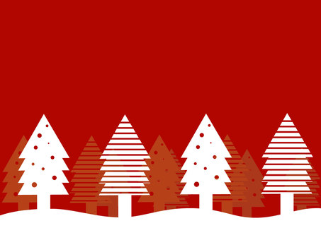 Christmas forest wallpaper material red