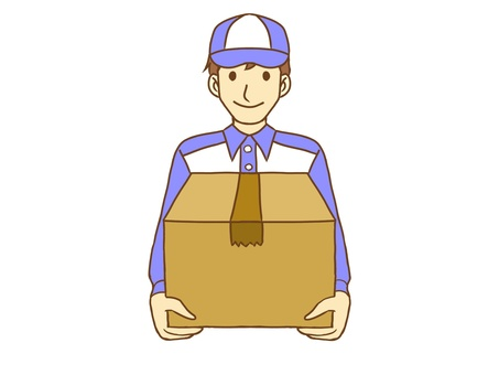 Male delivery person