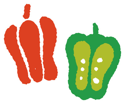 Green peppers and paprika