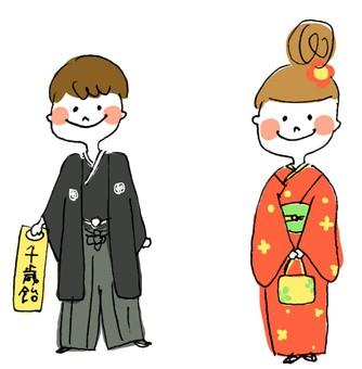 女孩和男孩shichigosan