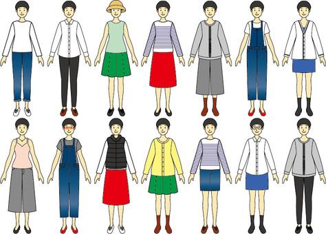Girls' dress up variation