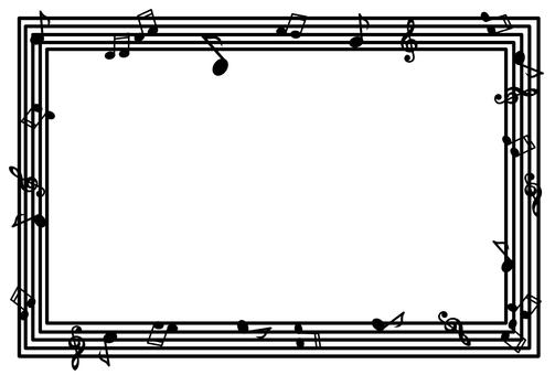 Musical note frame ②