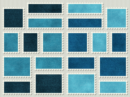 Denim fabric stamp seal blue navy blue